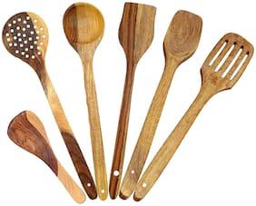 Worthway Wooden cooking Spoon- Set of 6