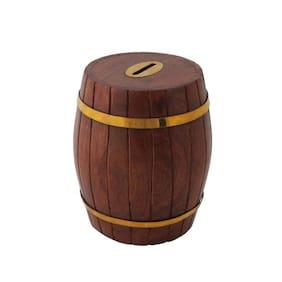 Worthy Shoppee brown wood piggy bank