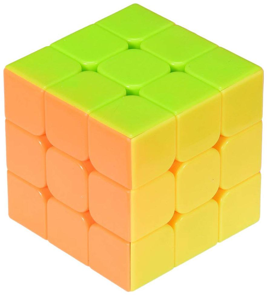 Worthy Shoppee 3x3 Speed Cube Stickerless Magic Cube 3x3x3 Puzzles Toys Multi Colour