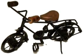 Worthy Shoppee Wooden & Iron Cycle Antique Home Decor Product ( Black;25.4 cm (10 inch) x 17.78 cm (7 inch))