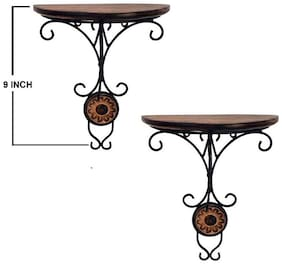 Worthy Shoppee Combo/Pair Of Wooden Wall Bracket Wall Hanging DA??A??Cor For Living Room