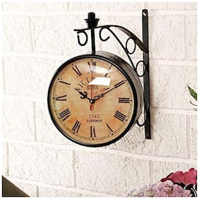 Worthy Shoppee 20.32 cm (8 inch) Dial Vintage Double Sided Wall Clock
