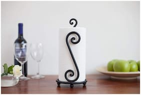 Worthy Shoppee Paper Towel Holder, Decorative and Wrought Iron Holder, One-Handed Tearing, Non-Slip Stability