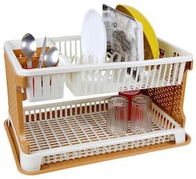 wud kraft Plastic Kitchen Organizer / Kitchen Dish Rack Stand Plate Holder