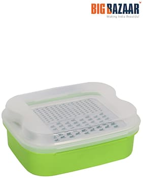 WWL Polypropylene Container with Grater (G-220) (Green)