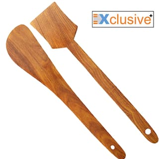 Xclusive Plus Pack of 2 Wooden Ladles