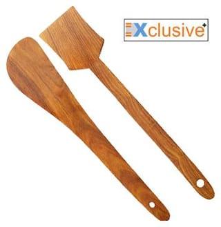Xclusive Plus Pack of 2 Wooden Ladles