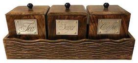 Xclusive Plus Premium Quality Tea;Coffee & Sugar Storage Set