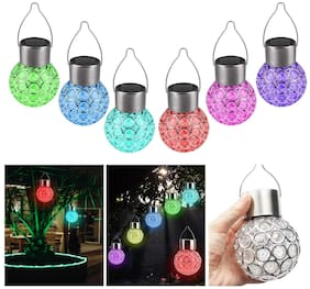 Xergy Solar Hanging Lights;7 Color Changing Globe Solar Lantern Waterproof Outdoor Decorative Hanging Ball Lights For Landscape Decoration -Set Of 1