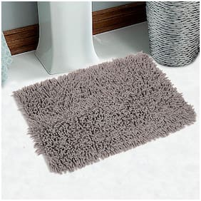 Xy Decor 1 pc Chenille Microfiber Bath Mat for Bathroom Soft Door Mat Brown 60 cm x 40 cm