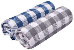 XY DECOR 400 GSM Cotton Bath towel ( 2 pieces , Multi )