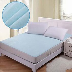 Xy Decor Non Woven Fabric Waterproof Double Bed Mattress Protector Sheet with Elastic Strap