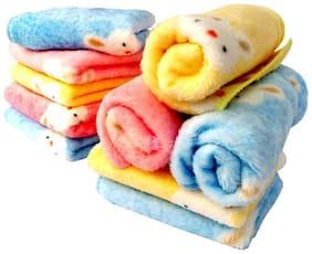 Xy Decor set of 10 microfiber face towel (multicolour) 10x10 inch