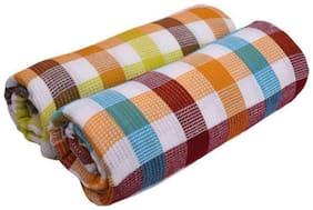 XY Decor Set of 2 Cotton Bath Towel Multi (75 x 150 cm)