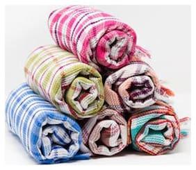 xy Decor set of 2 Check cotton bath towel (30x60 inch)