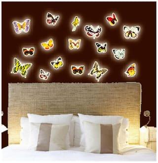 Y0024 butterfly Radium/Glow in the dark Wall Sticker JAAMSO ROYALS