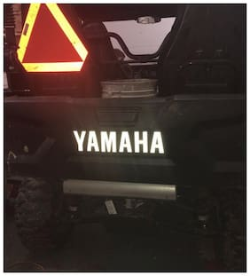Yamaha Wolverine X4 tailgate letters vinyl graphics rearend stickers