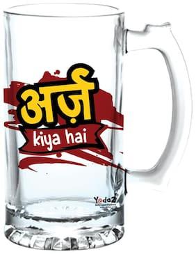 Yedaz Arz Kiya Hai Matte Finish Glass Beer Mug