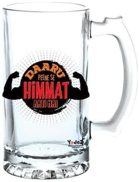 Yedaz Daru Peene Se Matte Finish Glass Beer Mug