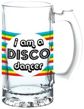 Yedaz Disco Dancer Matte Finish Glass Beer Mug
