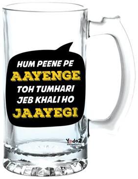Yedaz Hum Peene Pe Aayenge Matte Finish Glass Beer Mug