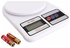 Yora Electronic Kitchen Weight Machine 10 KG Weighing Scale  (White)