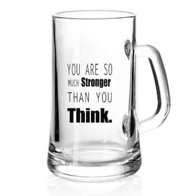 You are So Much Stronger than you Think Printed Juice /Milk/ Cold Drinkds &  Beer Glass Mug by Juvixbuy