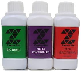 Zaena Bio Hume,Mites Controller,NPK Bacteria(100ml each) Bio-fertilizer