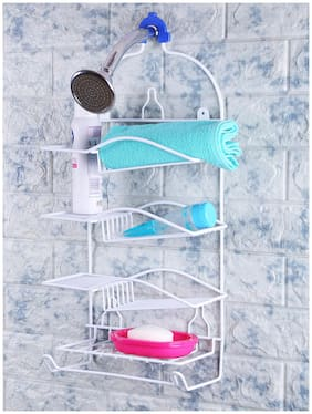 Zahab Stainless Steel 4 Layer Shower Caddy for Bathroom Accessories Storage