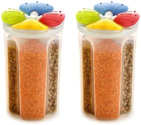 Zaro International 2500 ml Assorted Plastic Container Set - Set of 2