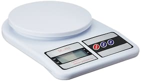 zauky Electronic Kitchen Digital Weighing Scale, Multipurpose (White, 10 Kg)