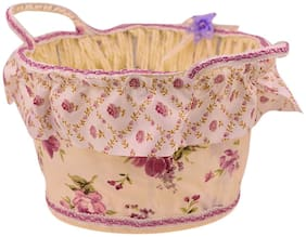 ZEVORA  Beautiful Floral Multipurpose Storage Baskets for Gift, Cosmetics, Chocolates, Biscuits, Stationery