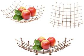 ZEVORA Golden Multi Purpose Metal Fruit Tray/Pen Pencil Stand Storage Organiser
