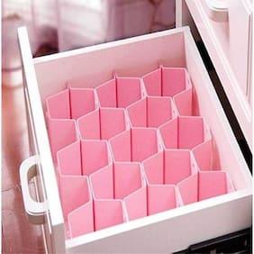 ZEVORA Honeycomb Drawer Clapboard Closet Divider Cabinet Cellular Partitions Underwear Organizer Cosmetic Plastic Storage Box