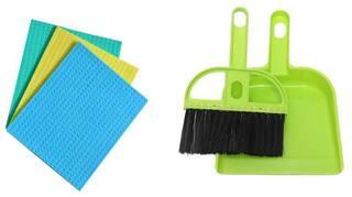 Zukunft Fashion Kitchen Cleaning Sponge Mop With Plastic Mini Dustpan Free