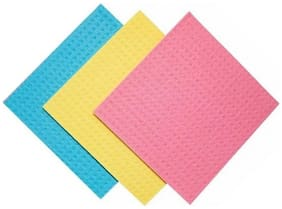 Zukunft Fashion Multicolour Kitchen Cleaning Wipes/Sponge/Scrubber Pad