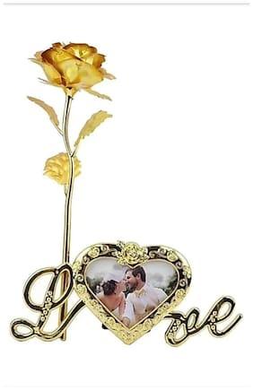 Zukunft Fashion 24K Gold Plated Rose Romantic For Lover Girl Friend Artifical Flower Gift Set Valentine Gift -Set Of 1