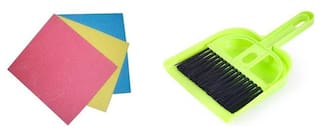 Zukunft Fashion Kitchen Cleaning Sponge/Cleaning Duster and Plastic Mini Dustpan Free