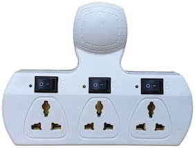 Zukunft Fashion 3 Socket Computer Powerstrip with LED Indicator Light