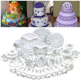 ZURU BUNCH 33PCs Cake Decorating Plunger Cutter for Fondant Make Beautiful Shapes & Designs/Sugar craft Icing Cutter Kit Cupcake Cookie Decor Kit