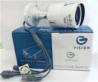 Zysk G-Vision CCTV 1080P 2.4 Mp Hd Resolution Digital Outdoor Weather Proof Bullet Camera with Day & Night Vision with IR Range 20 Meter (White)