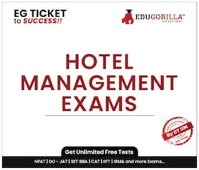 EduGorilla Hotel Management Exam Online Mock Test (1 Month)