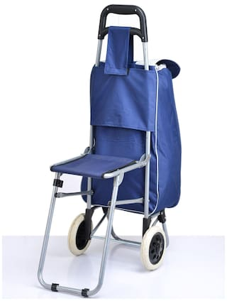 Buy Kawachi Shopping Trolley Bag With Folding Chair Online at Low ... 3d55a2041e