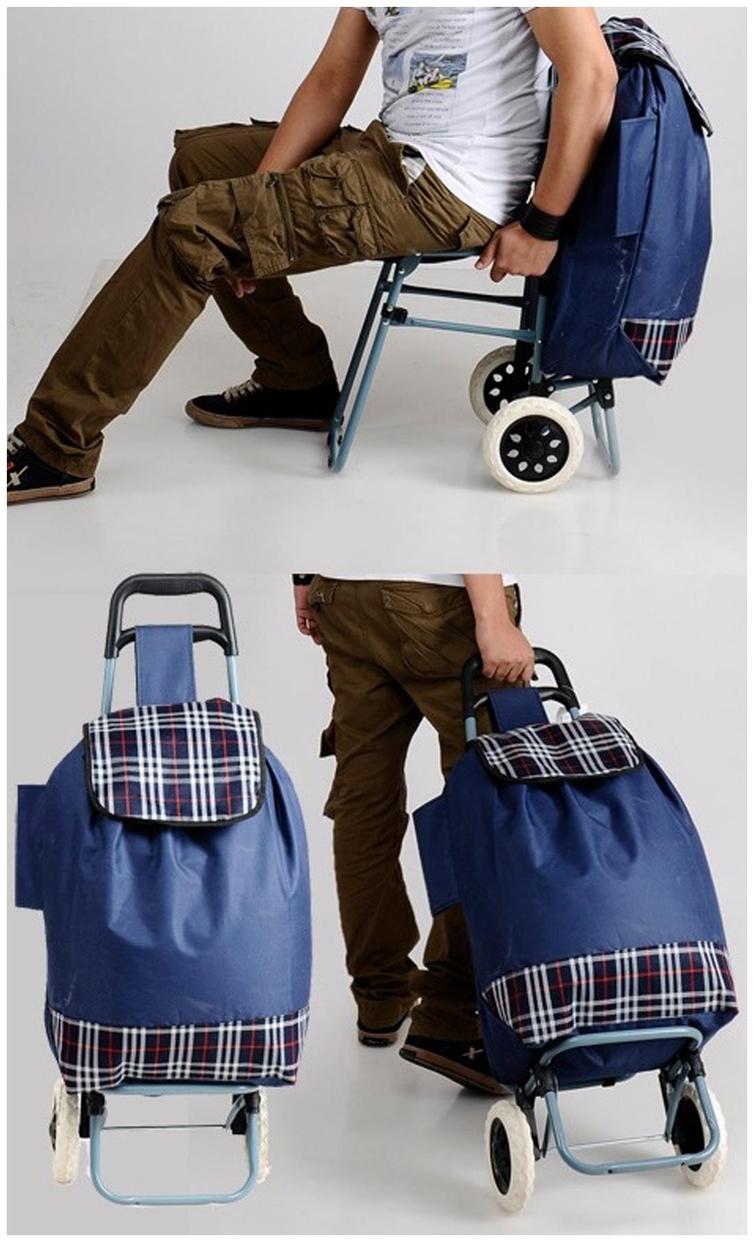 Buy Kawachi Shopping Trolley Bag With Folding Chair Online at Low Prices in  India - Paytmmall.com ddb14dbd30