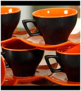 Unravel India Matt Cup Saucer(Set Of 6)
