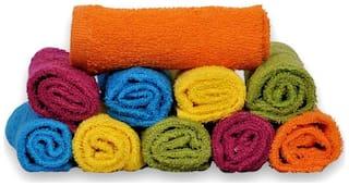 S Kumars Cotton Face Towel Set - Pack Of 10