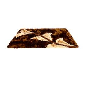 HOMEFURRY Multicolor BROWN BIRDY Polyester Area Rug 4x6 Feet