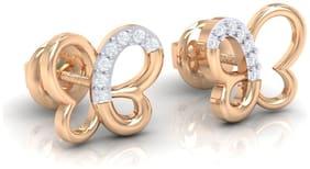 diamtrendz Women Gold and Diamond Stud earring - 18k