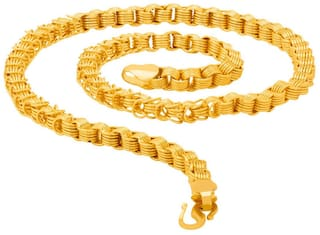 24K Gold Plated Premium Quality Chain for Men & Boys