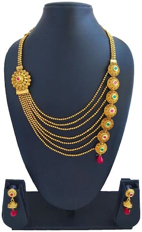 A.S. CREATION Seven Line Royal Jewellery Set